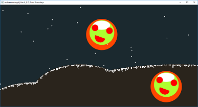 Screen shot of a program Smiley Animation Chistmas Version