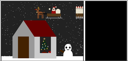 Screen shot of a program Xmas Tree 0.3