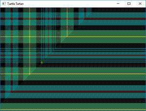 Screen shot of a program Turtle Tartan