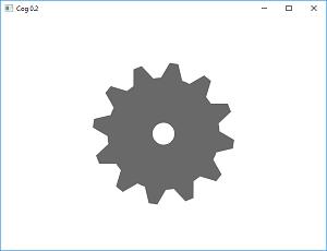 Screen shot of a program Cog 0.2