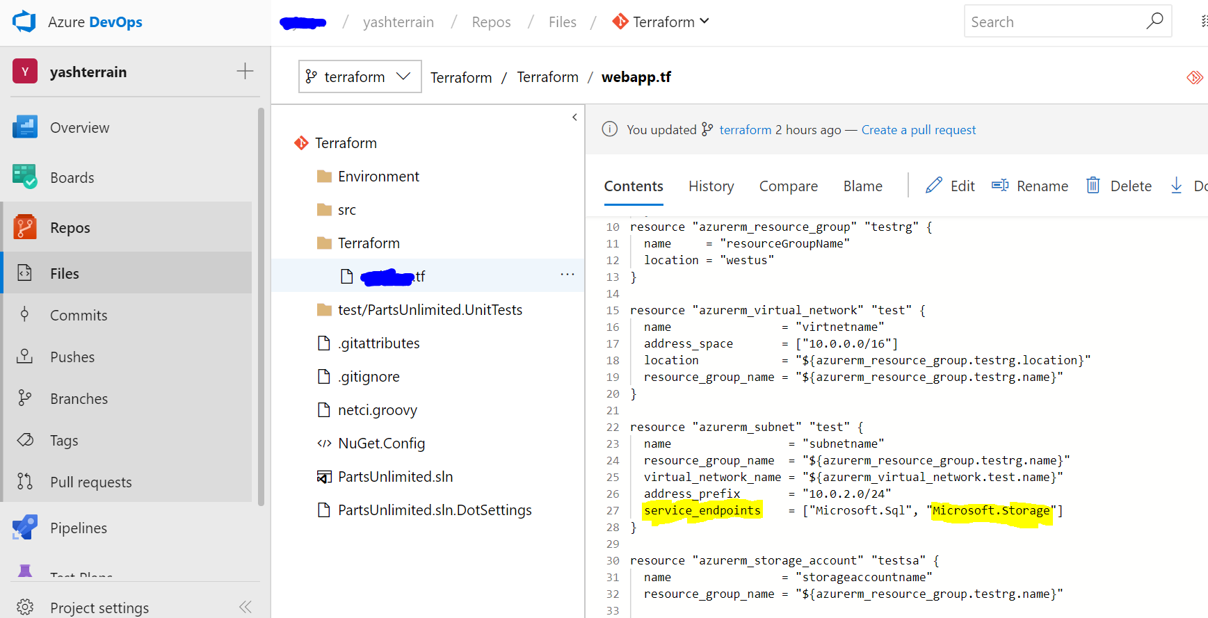 Access to storage account from azure devops hosted agent