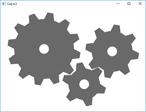 Screen shot of a program Cog 0.3