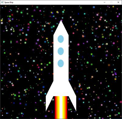 Screen shot of a program Space Ship SLF871