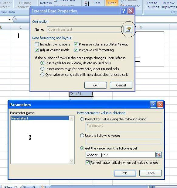 Ms Query Pass User Entered Parameter From Excel To Access