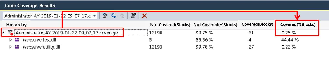 codecoverage.exe command line arguments