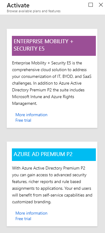 azure ad free edition features