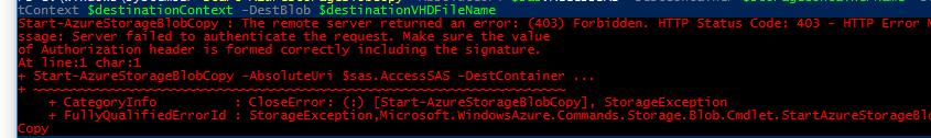 Start-AzureStorageBlobCopy returns 403