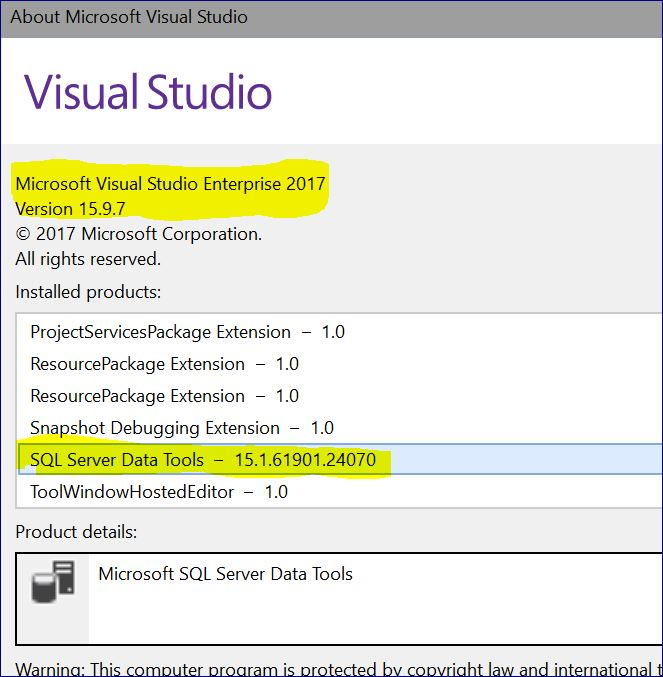 Unable to see Business Intelligence projects in Visual