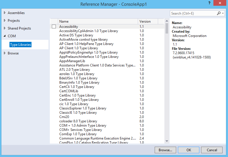 VS2017 fails to add a reference to C# project.