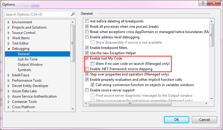 Does debugging of in process dll work in VS Community 2017
