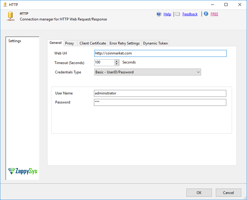 How to connect to a REST API with userid/password using SSIS