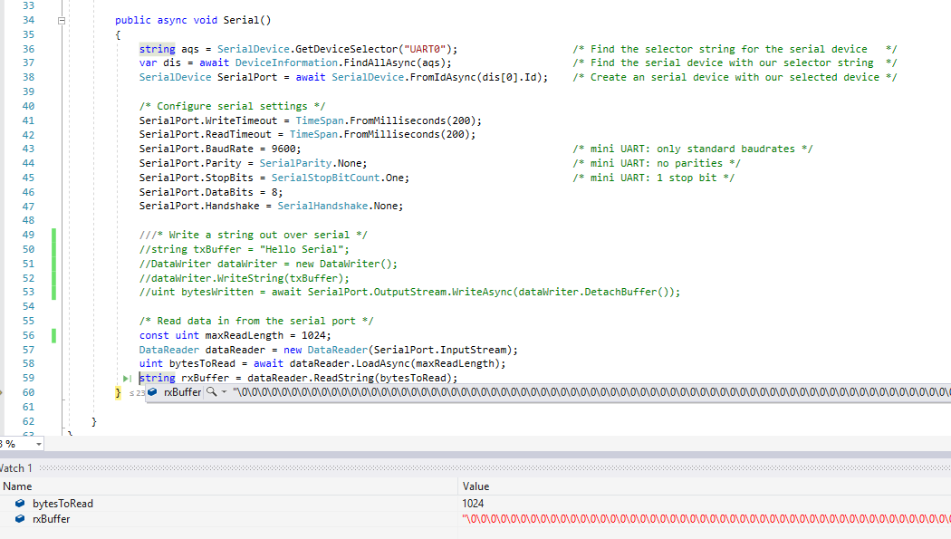 MiniUART doing wierd stuff after update to build (17763 316)