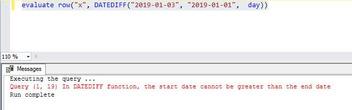 DATEDIFF - cannot return negatives in Tabular but can in PowerBI?