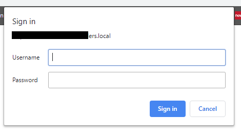 SharePoint 2013 - Chrome asking for sign in to Intranet