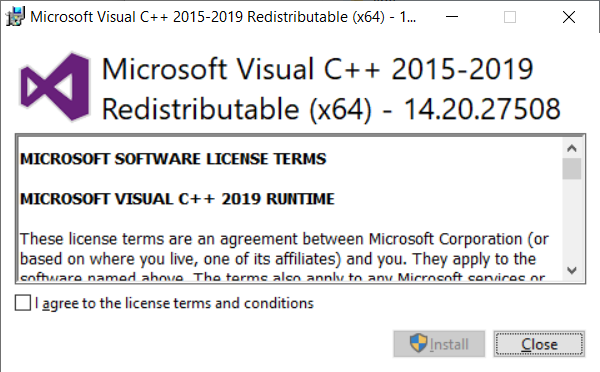 visual c++ redistributable for visual studio 2015 rc x64 download