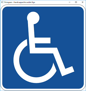 Screen shot of a program Pictogram - Handicapped Accesible Sign