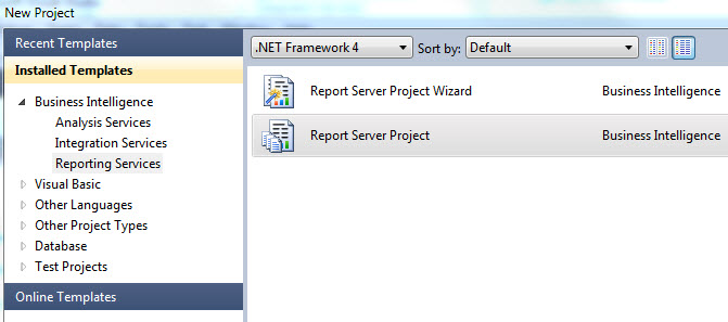 Ssrs visual studio 2010 report server project template friedricerecipe Image collections