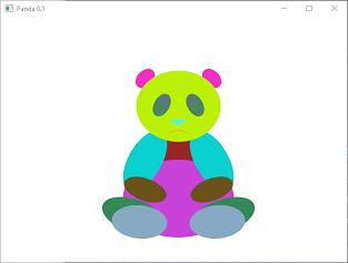 Screen shot of a program Random Colors Panda