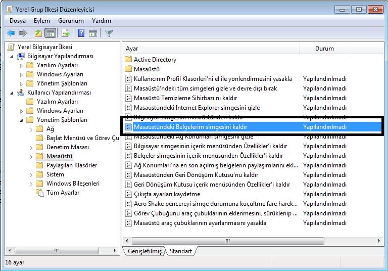 Windows Grup İlkeleri
