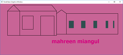Screen shot of a program mahreen's houses