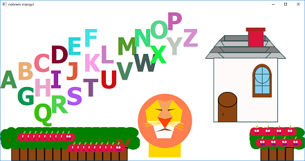 Screen shot of a program Alphabets MaY 2019