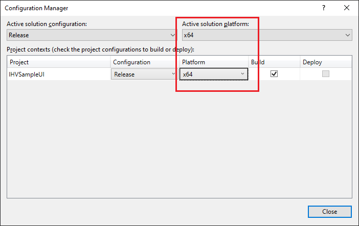 Installation of  cab file created for Windows iot core x64