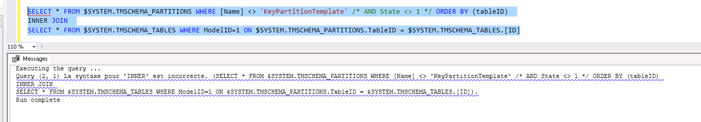 SSAS Tabular - DMV to see unprocessed (or badly processed