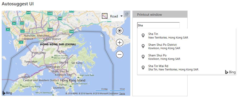 AutoSuggest Hong Kong