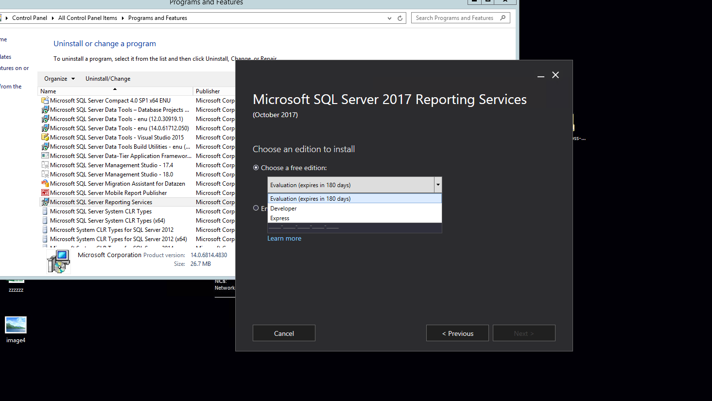 Installed SSRS without serial number