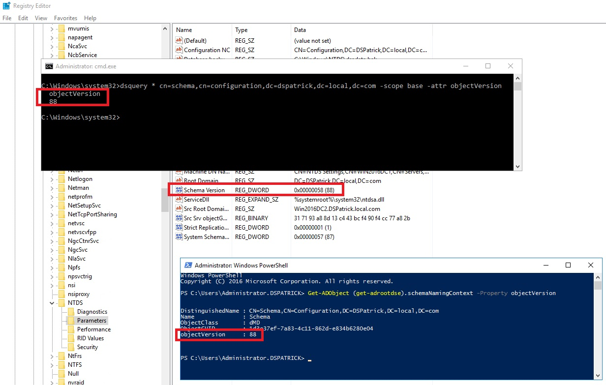 Schema mismatch in domain with 2012 R2 FSMO roles, but additinal