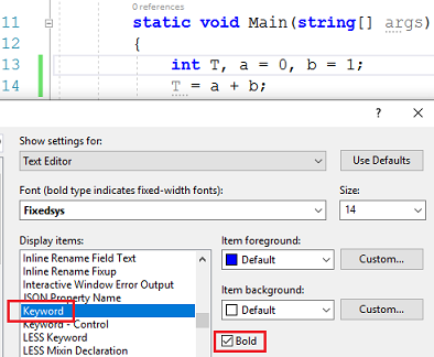 Editor Font does not match setting in Visual Studio 2019