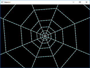 Screen shot of a program Web 0.1