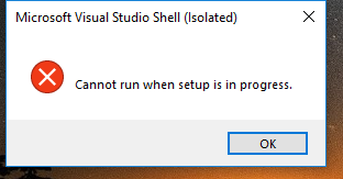 Microsoft Sql Server Management Studio 18 Shows The Message Cannot Run When Setup Is In Progress