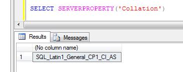 Database character set