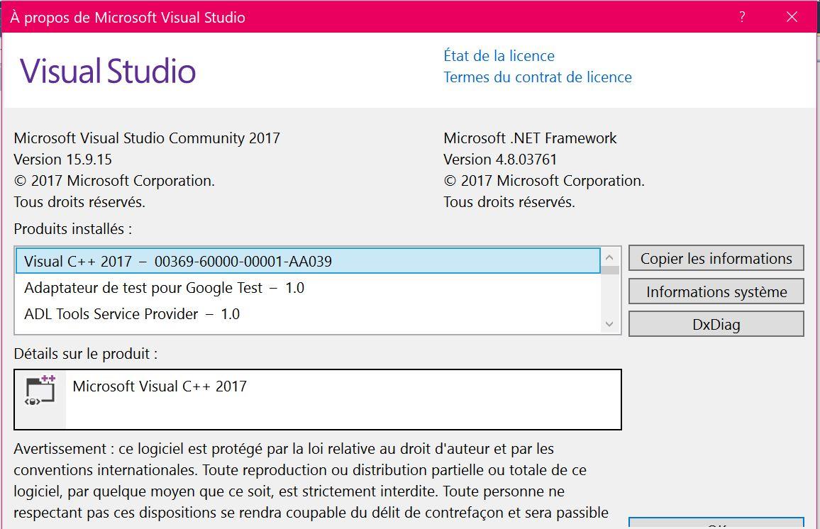 Version Visual Studio