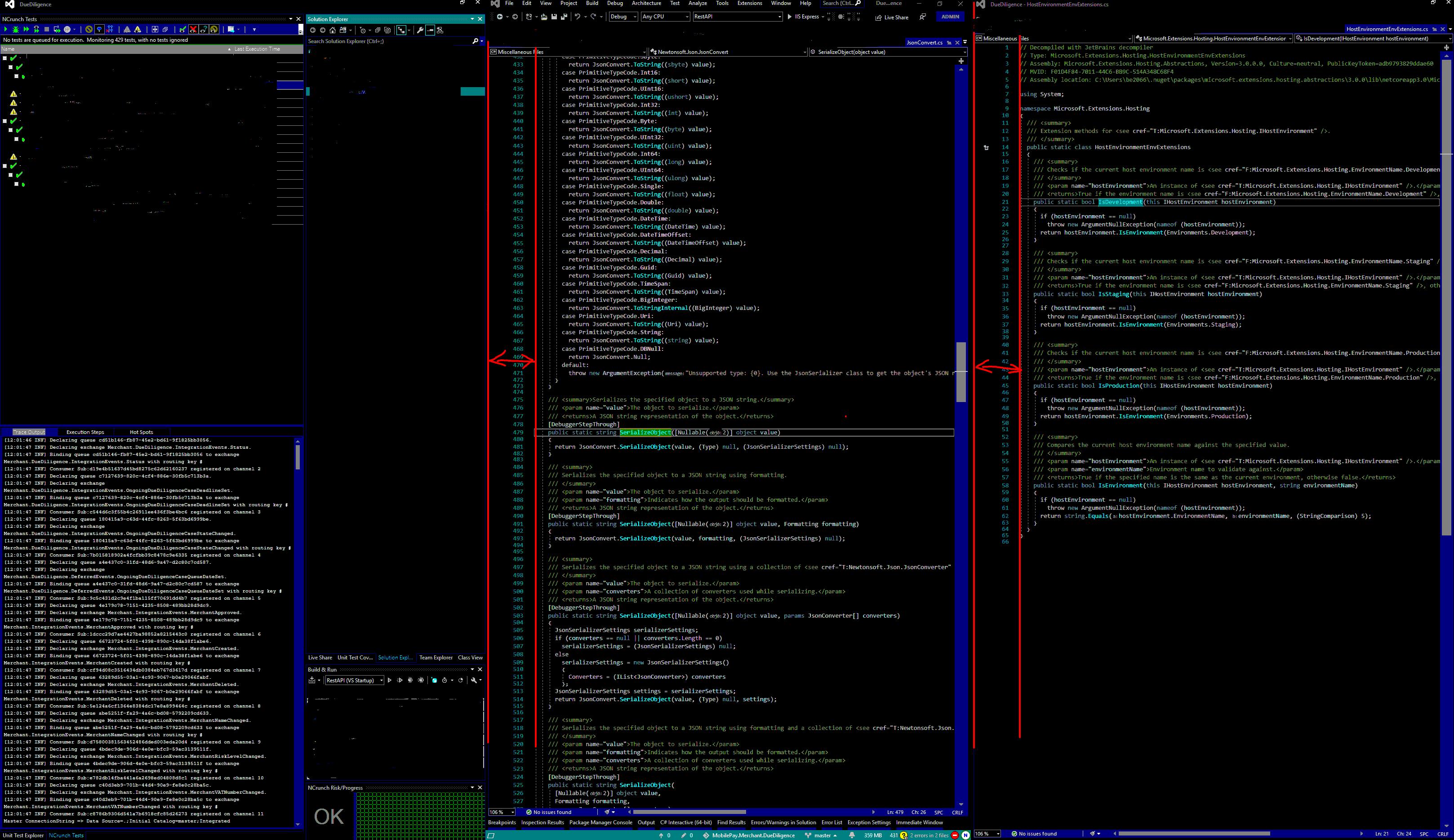 VS screenshot