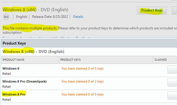 download product key for windows 8 pro