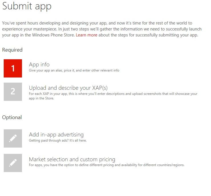 App submission hub
