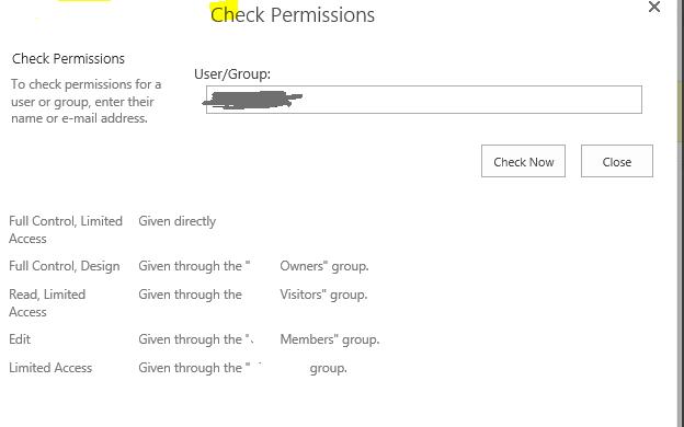 Permission user