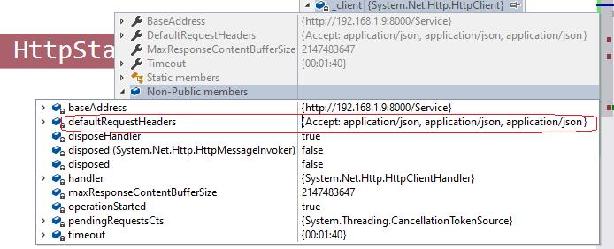 application json header