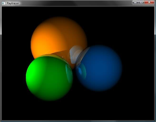 Screen shot of a program Raytracer