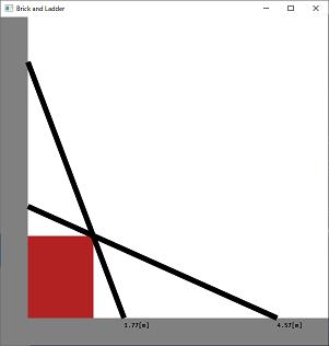 Screen shot of a program Brick and Ladder
