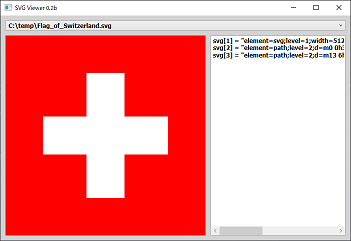 Screen shot of a program SVG Viewer 0.2b