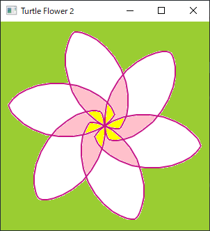 Screen shot of a program Turtle Flower 2