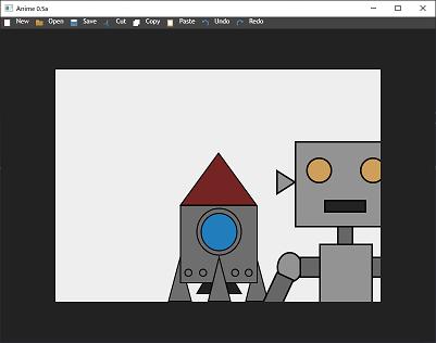 Screen shot of a program Anime 0.5a