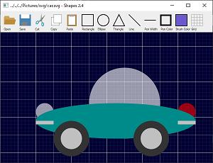 Screen shot of a program Shapes 2.4