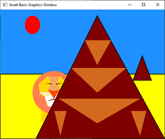 Screen shot of a program Pyramid and ?