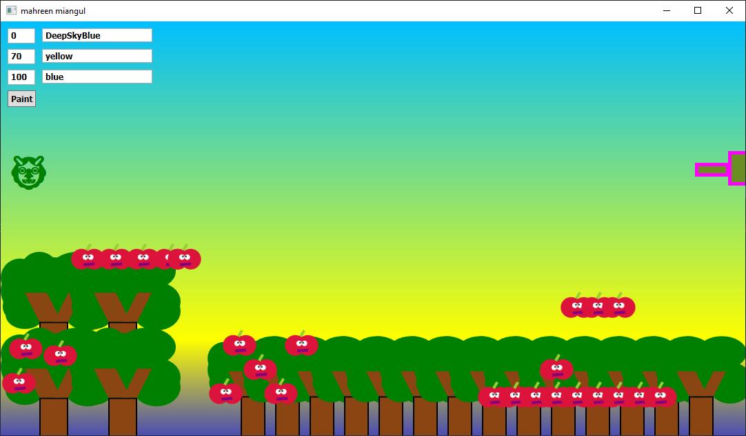 Screen shot of a program Balloon Shooting Game Modified