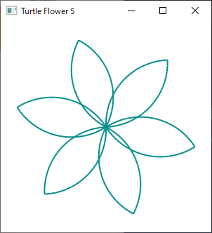 Screen shot of a program Turtle Flower 5