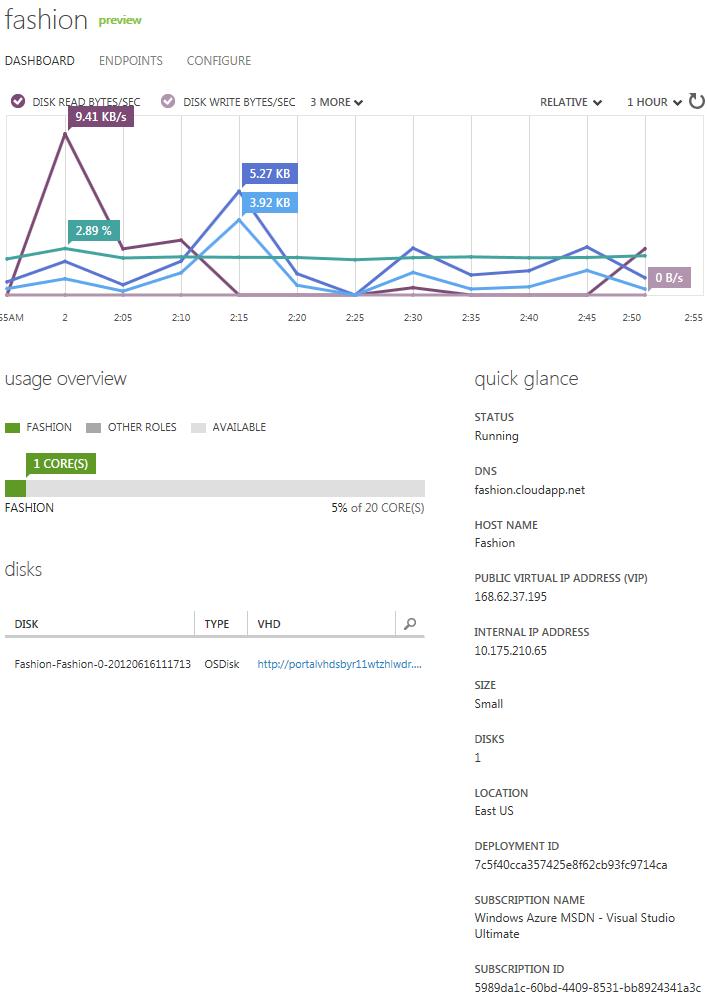 Azure VM Server Panel